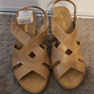 Aerosoles Wedge Sandals Tan